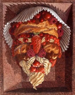 Charlotte de fruits rouges ou tête composée
