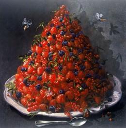 Pyramide de baies rouges