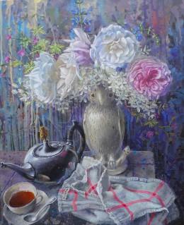 Roses dans l'atelier 38x46